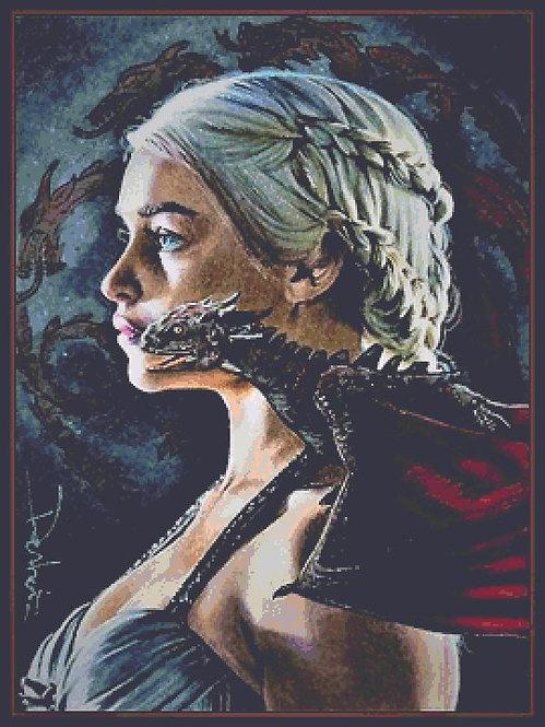Daenerys Cross Stitch Chart - Kit  - Game of Thrones - Desbois