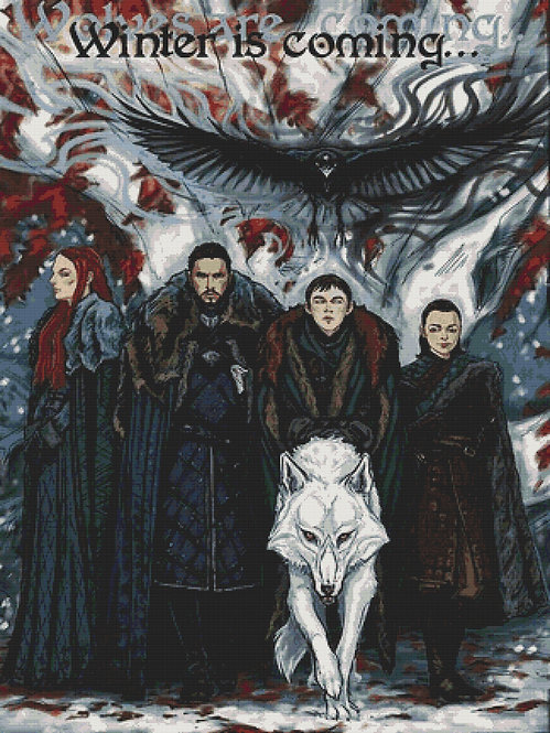 Winter is Coming Cross Stitch - Game of Thrones - Starks