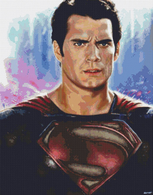 Superman Cross Stitch - Henry Cavill - Andrey