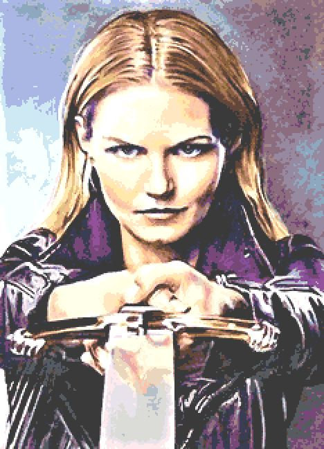 Emma Swan Cross Stitch Chart - Kit  - Once Upon A Time