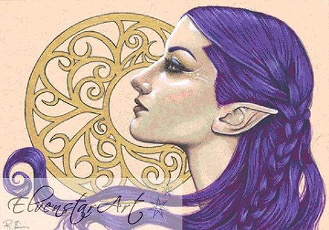 Filigree Cross Stitch Chart -  Kit - Goth - Fantasy - Sinz