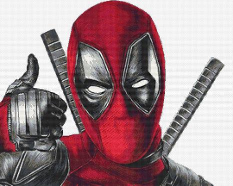 Deadpool Cross Stitch Chart PDF