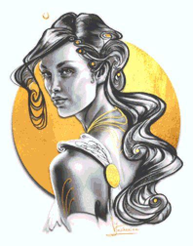 Aurora Cross Stitch - Fantasy - Goth - Goddess - Inna