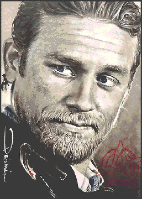 Jax Cross Stitch - Chart - Kit - Sons of Anarchy - Desbois