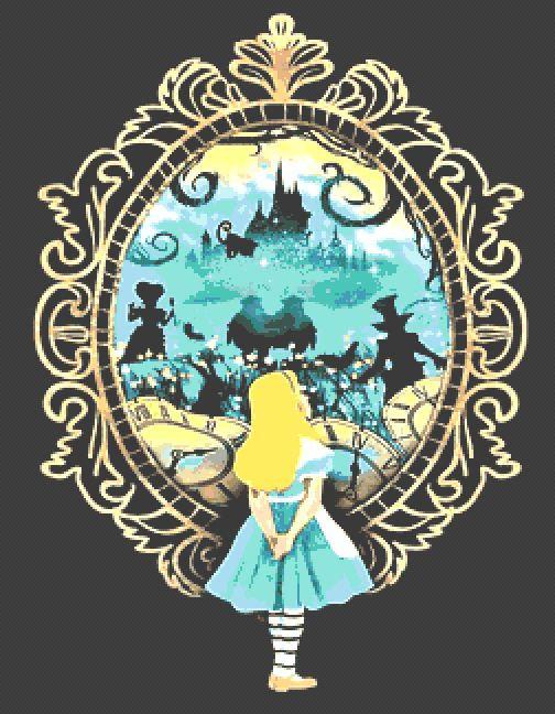 Alice in Wonderland Cross Stitch Kit - Chart - Fantasy