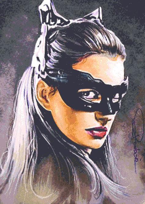 Catwoman Cross Stitch Chart - Kit  - Batman - Desbois