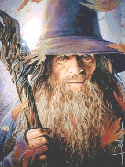 Gandalf Cross Stitch Chart PDF