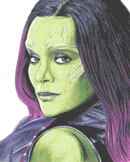 Gamora Cross Stitch Chart - Kit - Guardians of the Galaxy - Avengers