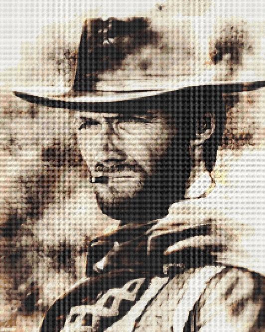 Clint Eastwood Cross Stitch - Cowboy - Andrey
