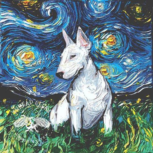 Bull Terrier Cross Stitch Chart - Kit - Dog