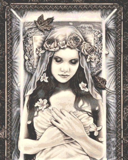 Eternal Sleep Cross Stitch Chart - Kit  - Goth - Fantasy