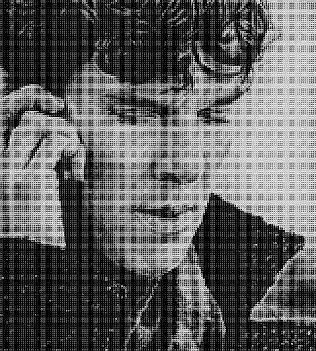 An Apology Cross Stitch Chart - Kit - Sherlock - Benedict Cumberbatch - Kupp