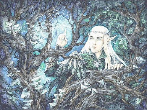 First Touch Cross Stitch - Thranduil  -The Hobbit - Elf - LOTR - Fantasy - Candr