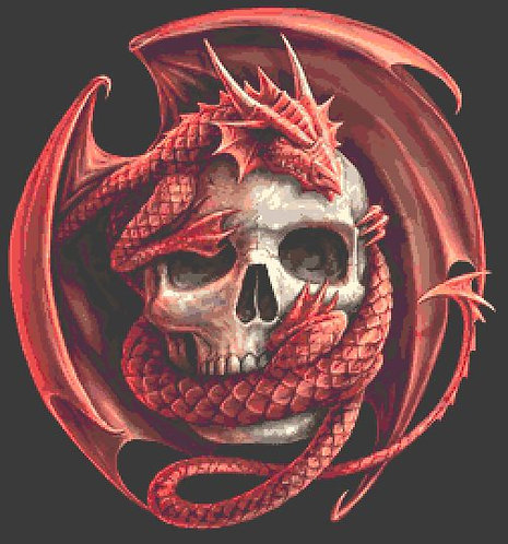 Skull Embrace Cross Stitch Chart PDF