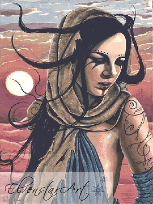 Wasteland Cross Stitch Chart -  Kit - Goth - Fantasy - Sinz