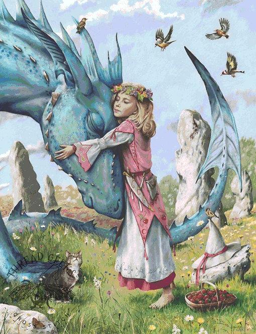 Farewell Cross Stitch Chart -  Kit - Fantasy - Dragon Friendship