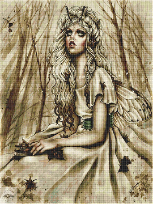 Forest Fairy Cross Stitch Chart - Kit  - Goth - Enys Guerrero