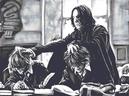Concentrate Cross Stitch Chart - Kit - Snape  - Harry Potter