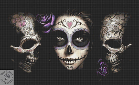 Day of the Dead Cross Stitch  Kit - Anne Stokes
