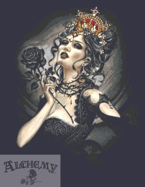 Black Rose Queen Cross Stitch Kit - Alchemy Gothic  - Fantasy