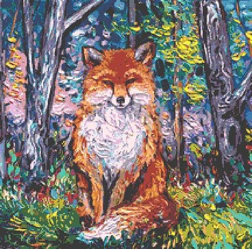Fox Cross Stitch Chart - Kit
