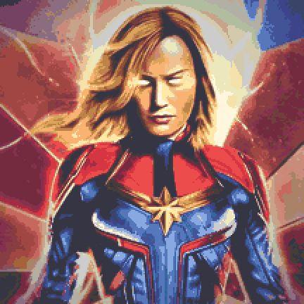 Captain Marvel Cross Stitch Kit - Chart - Avengers - Andrey
