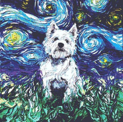 Westie Cross Stitch Chart - Kit - Dog