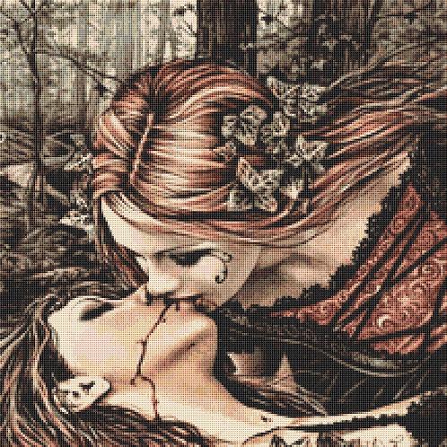 Vampire Kiss Cross Stitch Chart PDF