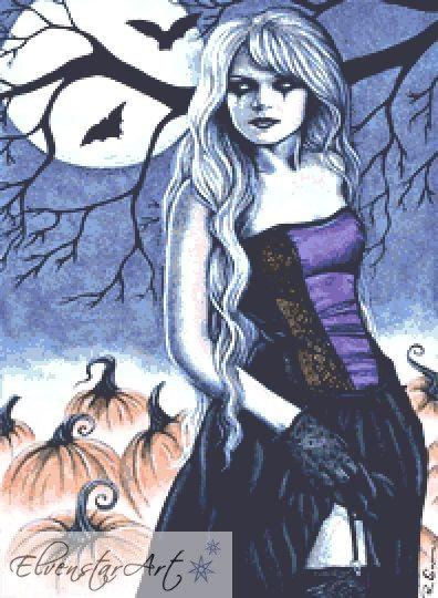 All Hallows Eve Counted Cross Stitch Kit - Pumpkin - Halloween