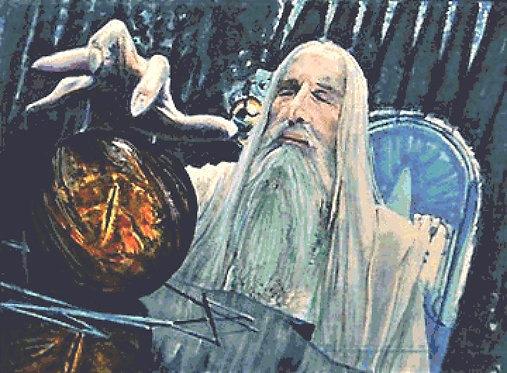 Corruption Cross Stitch Chart - Kit  Lord of the Rings - Saruman - Desbois