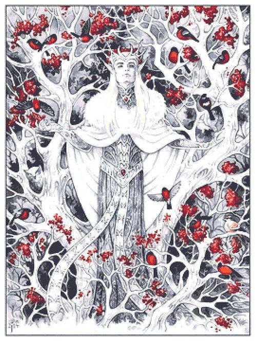 Large Thranduil Winter Elf King Cross Stitch Chart PDF