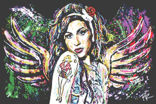 Amy Winehouse Cross Stitch Chart - Kit