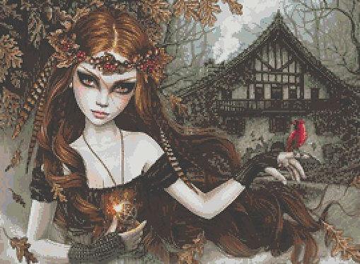 Autumn Girl Cross Stitch Chart PDF