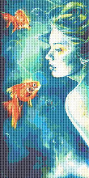 Abissi Cross Stitch Chart  - Kit - Fantasy - Mermaid