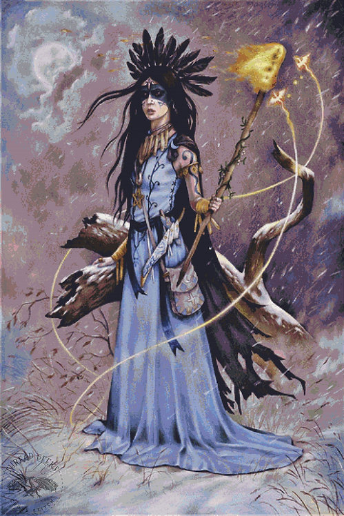 Aphra De Swift Cross Stitch Chart -  Kit - Fantasy - Witch