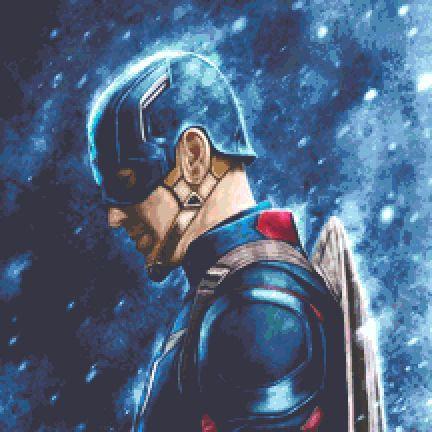 Captain America Cross Stitch Kit - Chart - Avengers - Marvel - Andrey