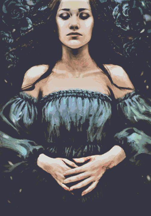 Bed of Blood Cross Stitch - Fantasy - Game of Thrones - Lyanna Stark