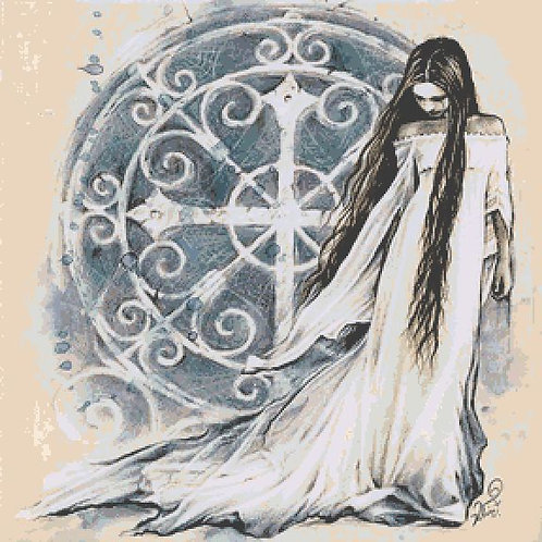 Celtic Lady Cross Stitch Chart - Kit  - Goth - Fantasy