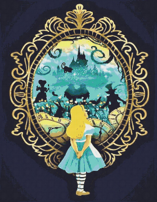 Alice in Wonderland  Large Cross Stitch Chart PDF