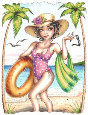 Beach Fun Cross Stitch Chart - Kit