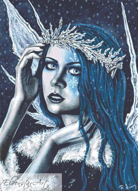 Cold As Ice Fairy Counted Cross Stitch Kit - Winter