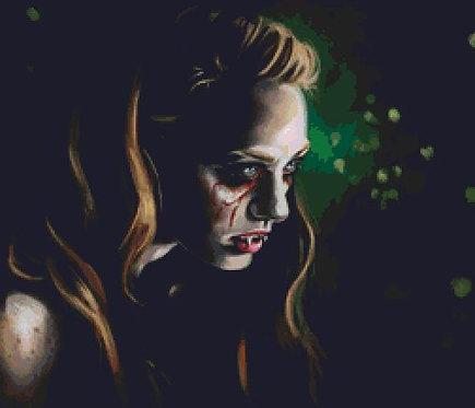 Jess Cross Stitch  Chart - Kit - True Blood - Vampire