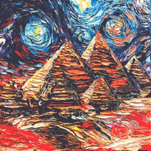 Egyptian Pyramids Cross Stitch Chart - Kit