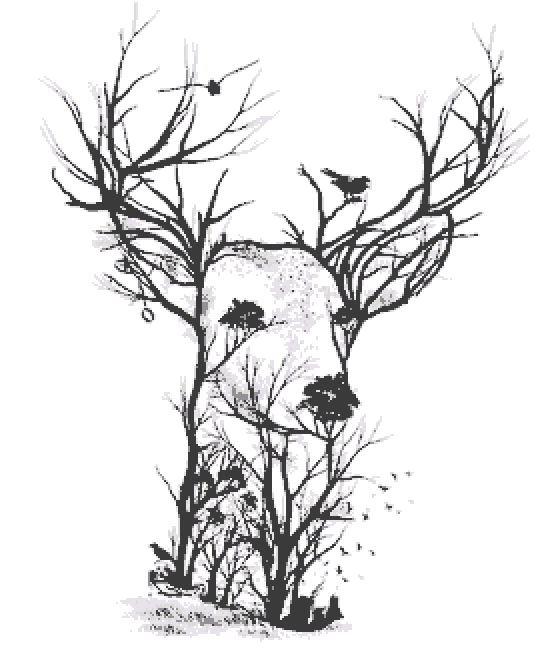 Deer Large Cross Stitch Chart PDF