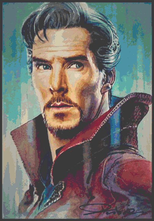 Dr Strange Cross Stitch Chart - Kit  Avengers - Marvel  - Desbois