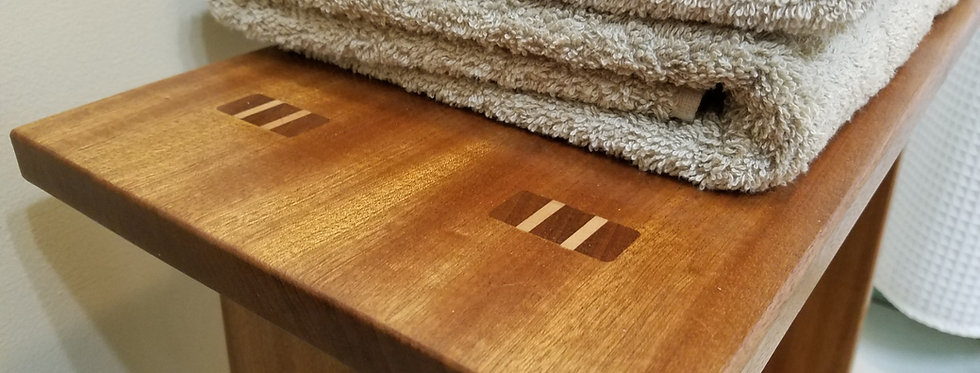 Sapele Bath Stool
