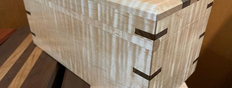 Curly Maple and Walnut Keepsake Box