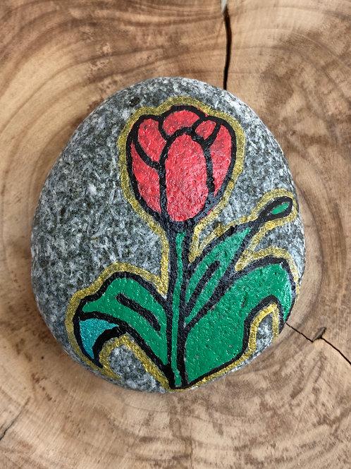 La tulipe rouge déclaration d'Amour.