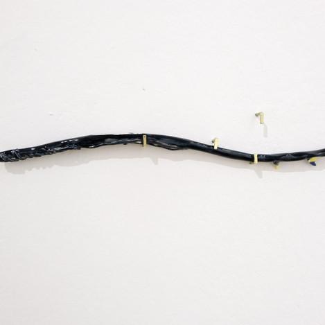 Rosenast schwarzblau