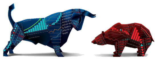 Bearish and Bullish Stock Market Digital